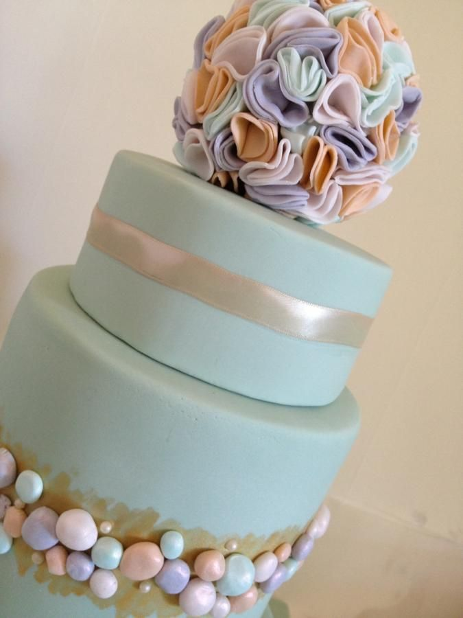 Tiered birthday cake - Cake by cakeandwhimsy