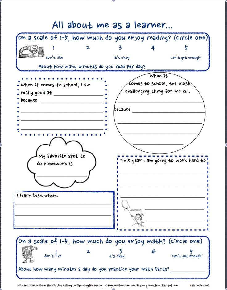 Getting to know you FREE worksheet for the first day of school. All about Me as a Learner