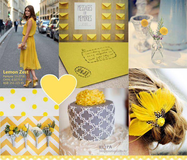 Pantone Spring Colors - Lemon Zest