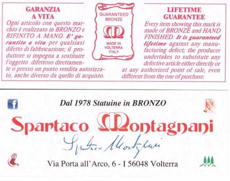 Certificato di garanzia con nome e firma