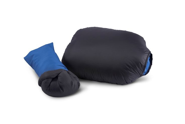 The 700-fill goose down Geoduck Pillow by Feathered Friends. I picked one up at their shop in Seattle.  Great comfy, compact travel pillow for the down pillow lover!