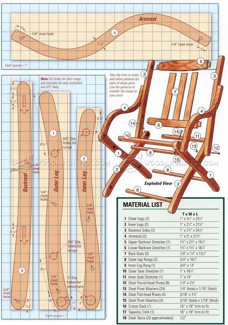 Civil War Chair Plans - Outdoor Furniture Plans