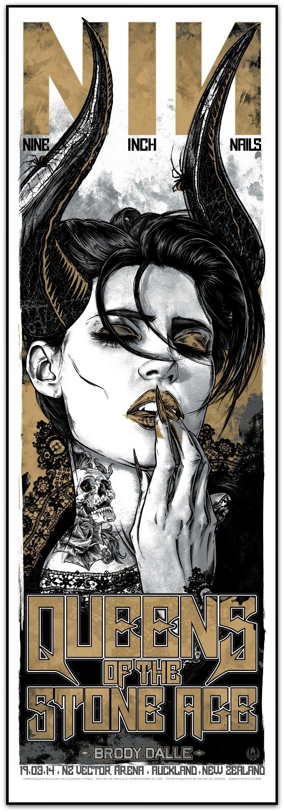 INSIDE THE ROCK POSTER FRAME BLOG: Nine Inch Nails & Queens of the Stone Age Rhys Coo...