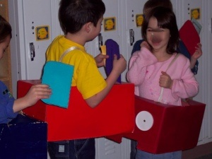 Transportation unit I made cars out of Xerox paper boxes, the children made Driver's licenses that they carried in their wallets.