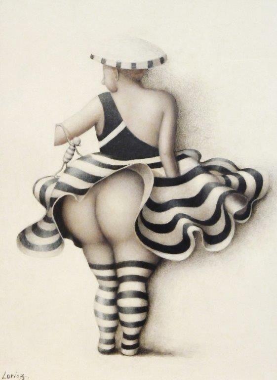 "Jeanne Lorioz - ""Flamenco"" #lorioz #samagra #art #painting #acrylic #flamenco #femme #artcontemporain #contemporaryart #round #beauty"