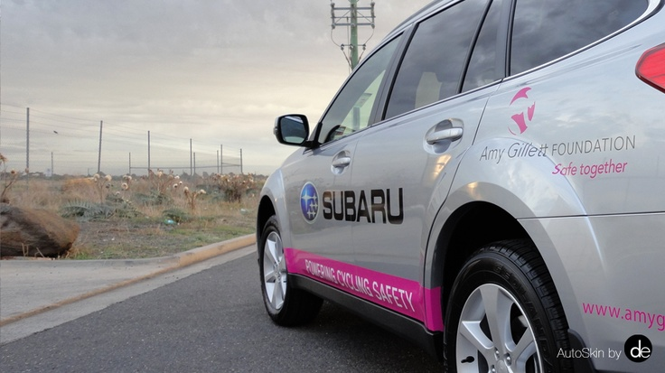 "Subaru & Amy Gillett Foundation ""A Metre Matters"" www.amygillett.org.au"