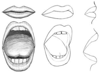 How to draw a mouth. Because you asked, AK.