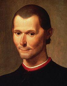 Portrait posthume de Nicolas Machiavel (détail), par Santi di Tito.