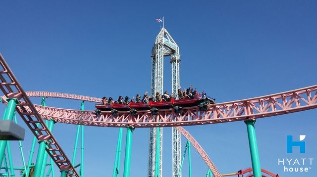 One of the best amusement parks in California – and  minutes away from Hyatt House Cypress/Anaheim – Knott's Berry Farm features exciting rides and live entertainment.