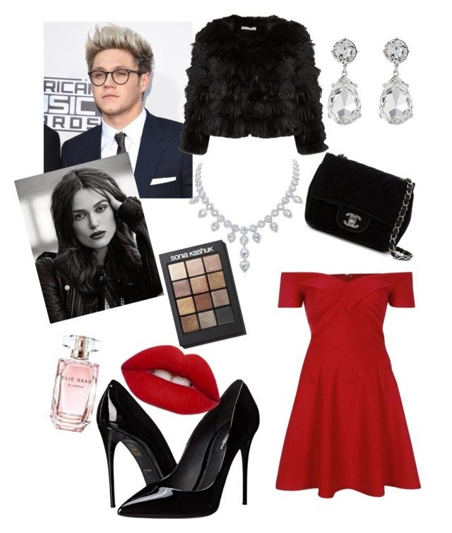"""Niall and you. Date Night"" by fashion-girl-katrina on Polyvore featuring River Island, Alice + Olivia, Dolce&Gabbana, Chanel, Kenneth Jay Lane, Elie Saab, Lime Crime and Sonia Kashuk"