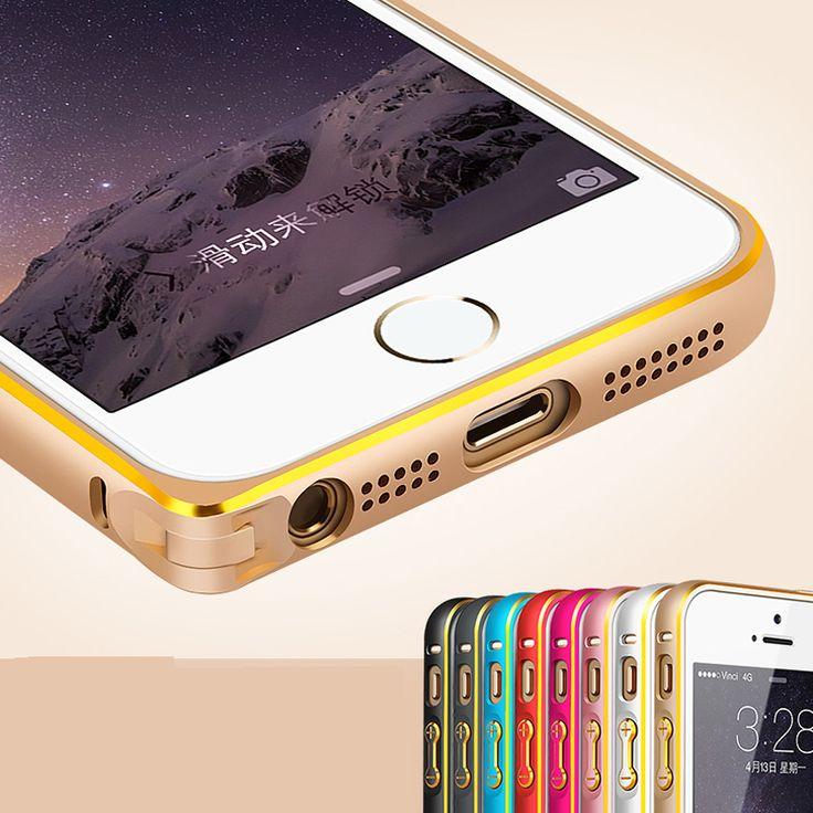 Fashion Metal Bumper for Apple iPhone 5 5S Hippocampal Button Lock Aluminum Alloy Frame with Gold Side iPhone Hrvatska - Najbolja online kupovina za vas ! | iPhone.hr
