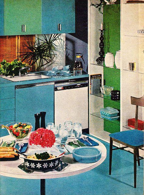 Kitchen From Better Homes U0026 Gardens Decorating Ideas 1960