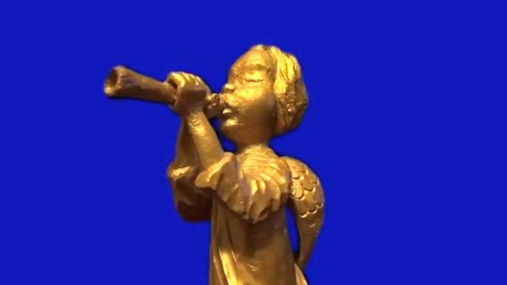 Футаж - Ангел играет на дудочке