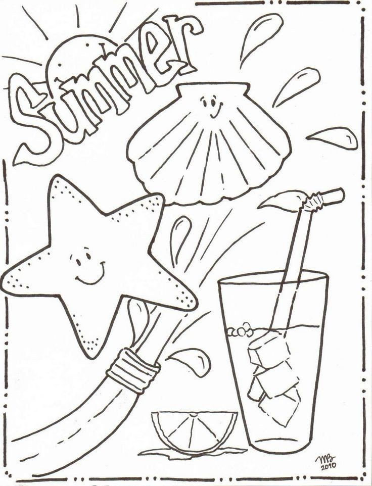 Summer Fun Coloring Page Summer Coloring Pages In 2020 Summer Coloring Sheets Cool Coloring Pages Beach Coloring Pages