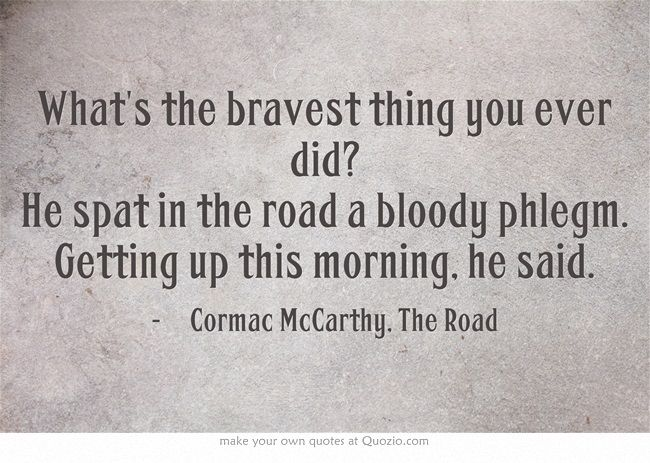 a literary review of the road a novel by cormac mccarthy Cormac mccarthy is one of the usa's most important literary novelists the road  has been hailed by critics as a master [.