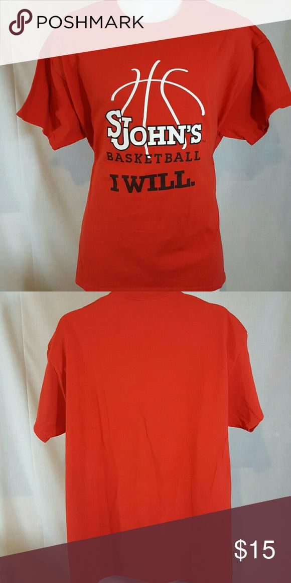 "St johns university basketball red XL tshirt Good condition.  Measures 23"" across chest and 30"" Long from top mid shoulder to bottom hem Shirts Tees - Short Sleeve"