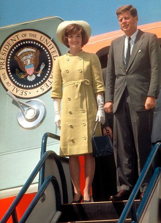 U.S. President John F. Kennedy with FIRST LADY JACQUELINE KENNEDY.  -- 1961