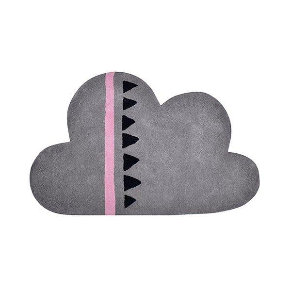 Alfombra infantil Nube rosa y gris 2
