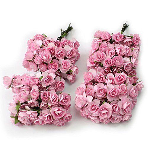 Kanggest 144pc Hermosa Mini Papel Artificial Flores de Rosa para la Decoración de la Tarjeta de Boda Decoración del Hogar Artesanía DIY - Rosado #Kanggest #Hermosa #Mini #Papel #Artificial #Flores #Rosa #para #Decoración #Tarjeta #Boda #Hogar #Artesanía #Rosado