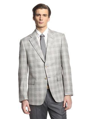 72% OFF Cerruti 1881 Men's Drop 7 Classic Fit Sport Coat (Grey Plaid)