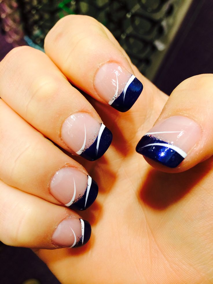 Dark Blue Prom Nails