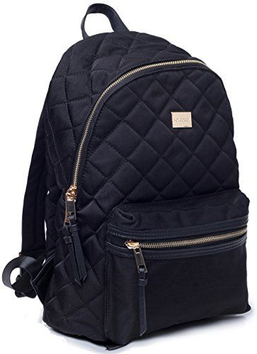 Woman Backpack TOYOOSKY Black Casual School Backpack Purse Daypack Rucksack  Classic Quilted Bookbag for Women Girls 7e16991e13