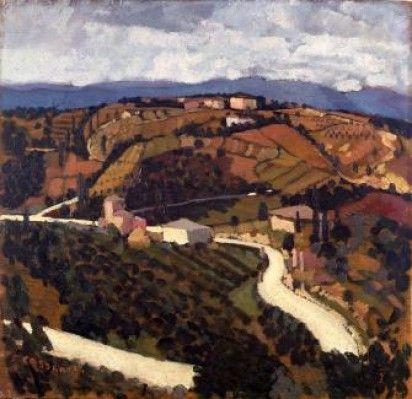 felice casorati - paesaggio toscano, 1929 (galleria civica di arte moderna di torino)