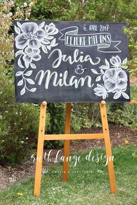 Hand- Lettering – rlange-designs Webseite!    Kreide-Tafeln kommen auf Hochzeite…