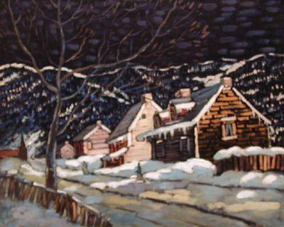 Scène d'hiver, Charlevoix - Marc-Aurèle Fortin