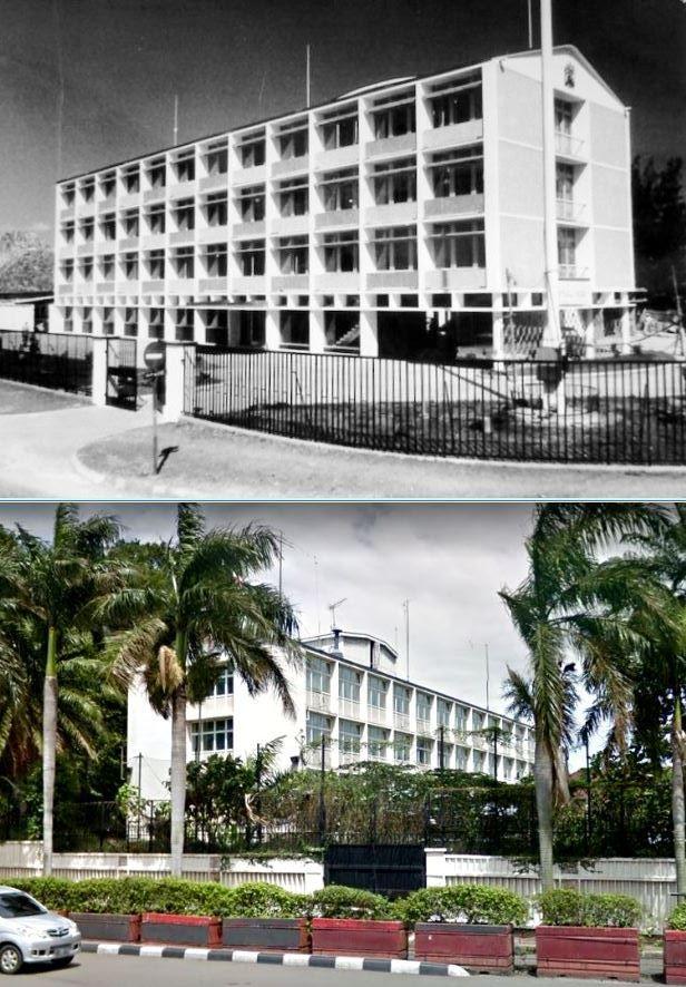 Kedutaan Besar Inggris, jl Imam Bonjol, Bunderan HI, Jakarta, 1962an dan 2016