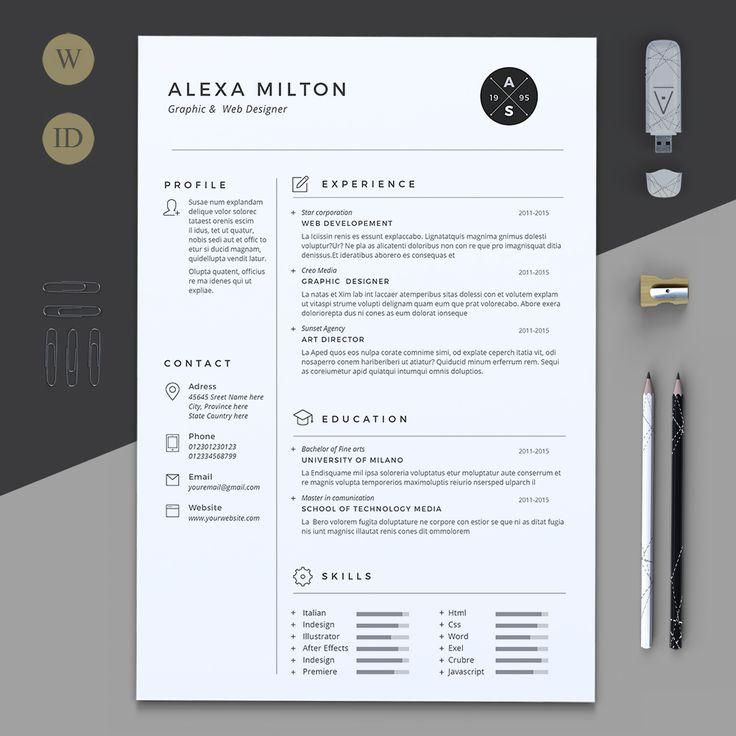 282 best resume design images on Pinterest Resume cv, Creative - best resume fonts