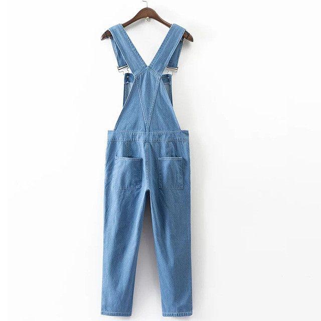 2017 new Women Jumpsuit Denim Overalls women Sleeveless Long Jeans Romper female Casual Jumpsuits salopette femme Plus Size