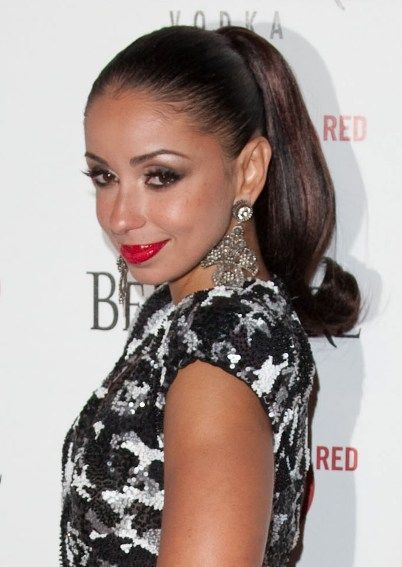 Mya wows with a chic ponytail