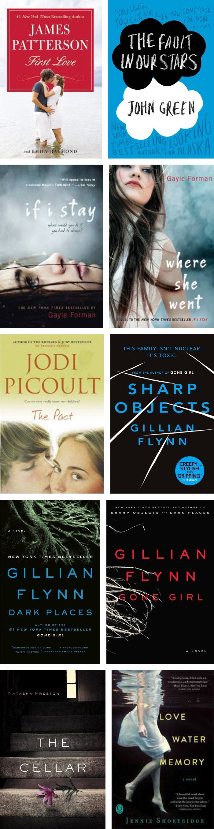 10 Must-Read Adult Fiction Books *saving this for later- however, I didn't like Sharp Objects!