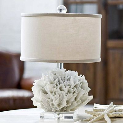 "Beach Cottage Decor - Regina Andrew Lighting White Ribbon Coral Lamp $173.00 - Regina Andrew Design marries vintage style with modern flair for a home collection that's truly timeless. Bring new life into a space with a touch of beach decor. This white ribbon coral lamp offers a subtle coastal accent to any tabletop while maintaining contemporary appeal.  Lamp measures 12"" round x 16.5""H"
