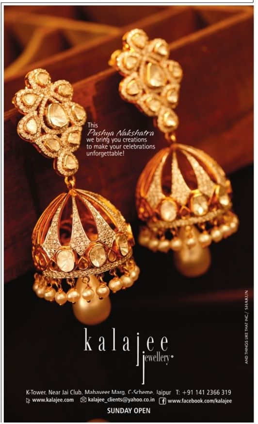 This Pushya Nakshatra we bring you creations to make your celebrations unforgettable!! Check our advertisement in Times of India today's edition. #jewellery #Jaipur