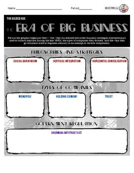 Robber Barrons: The Era of Big Business Activity