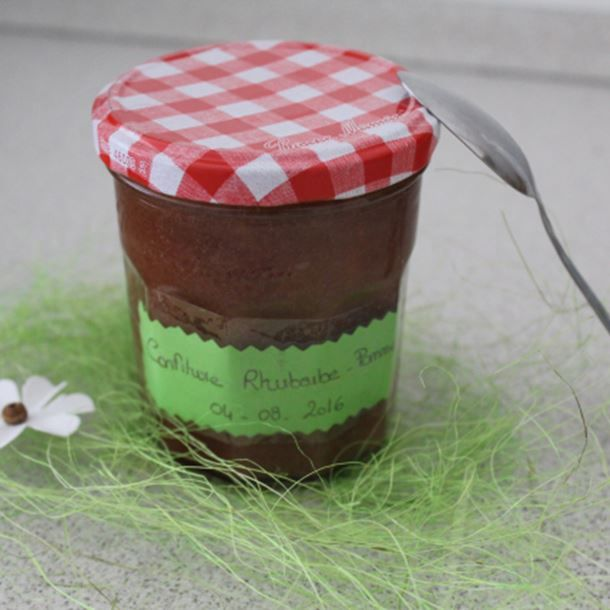 Confiture rhubarbe-pomme