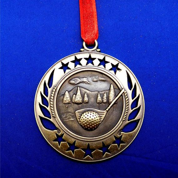 Golf Christmas Ornament or for Coach Gift Gold  FREE by GiftWorks