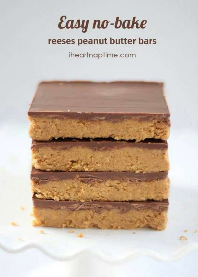 Reeses pieces no bake bars   http://www.iheartnaptime.net/no-bake-bars/