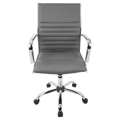 Master Contemporary Office Chair - Gray - Lumisource