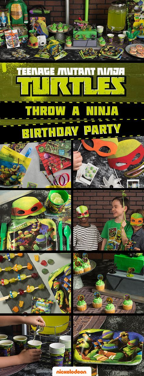 Cowabunga, dude! Add the ninja turtle touch to goodie bags, treats and décor, and give your kid a totally sewer-rific birthday bash. Celebrate in style with party décor from all your favorite Nickelodeon shows at Walmart. Get TMNT party supplies like plates, napkins, and cups, plus great teenage mutant ninja turtles gift ideas, and more.