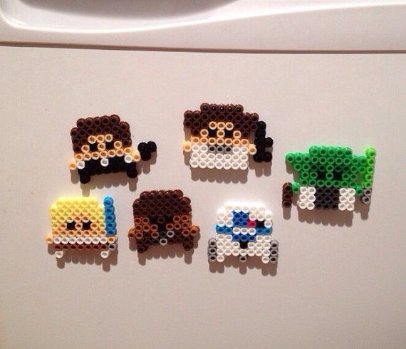 Star Wars Perler bead Magnets Set by K8BitHero