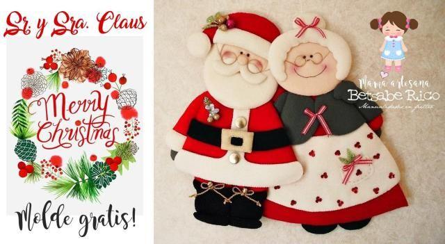 Hermosa pareja de Señor y Señora Claus - Dale Detalles