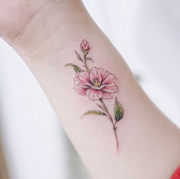 Unique Body Tattoo S Camellias By Anzo Choi Floral Tattoo Flower Wrist Tattoos Body Tattoos