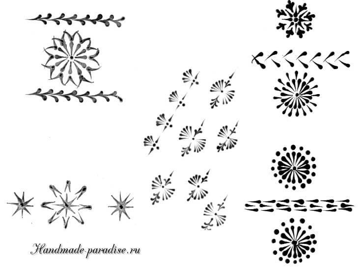 Шаблоны для росписи пасхальных яиц воском (10)
