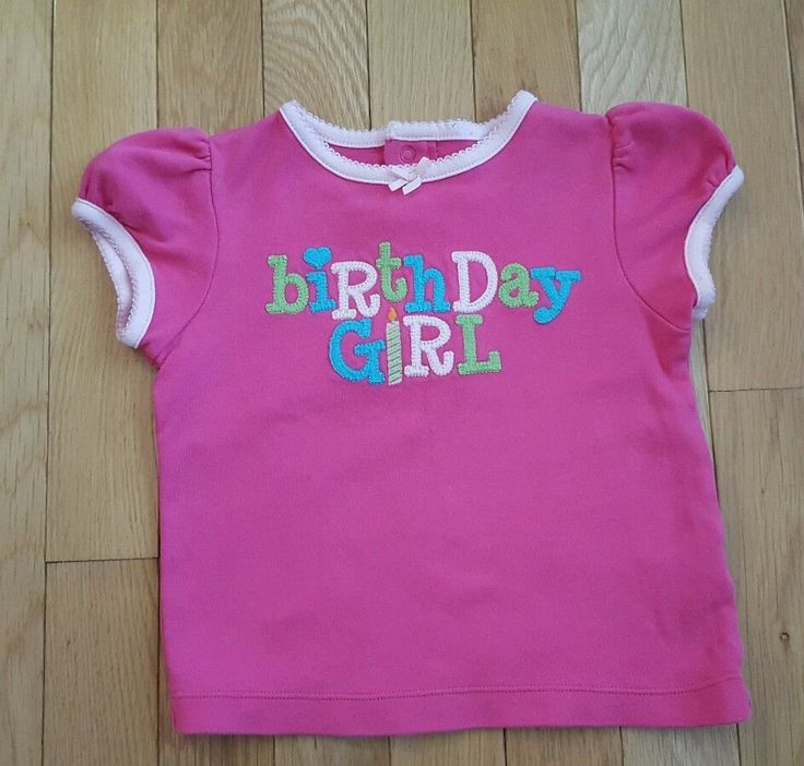 Carter's Pink Embroidered Birthday Girl Shirt 24 Months #Carters…