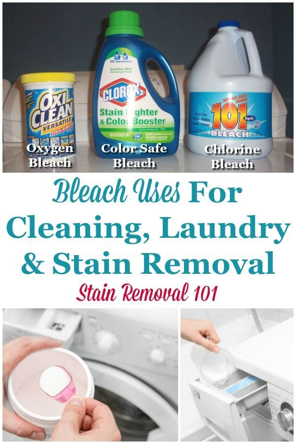 Bleach Uses For Cleaning Laundry Stain Removal With Images