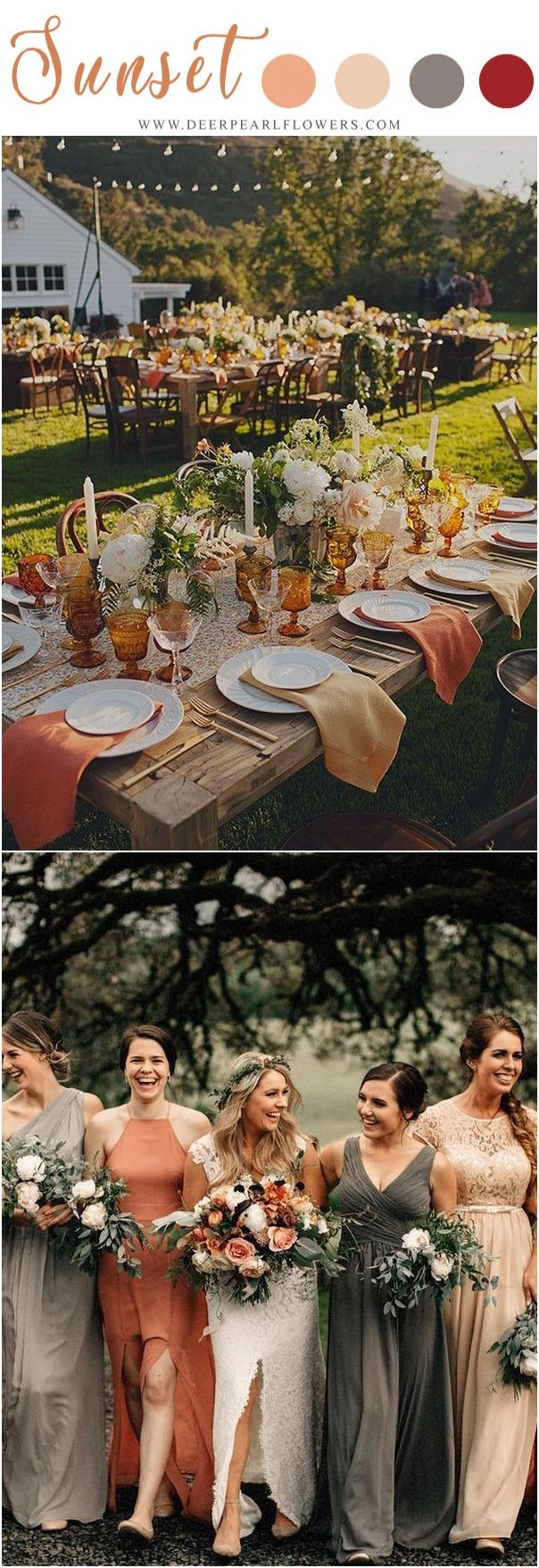 Wedding decorations red october 2018  Vintage Sunset Orange Wedding Color Ideas for   Colors and