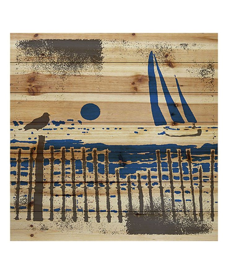 Take a look at this Ocean Dusk Painting Wood Wall Art today!